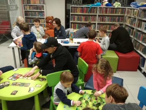 Planszówkowe spotkanie w Bibliotece w Puszczykowie